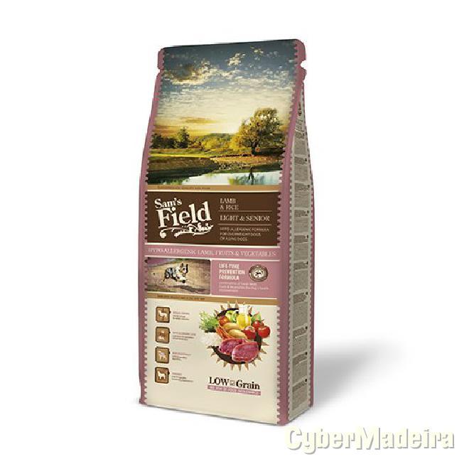 Sam\'s field borrego fresco & arroz light senior 13KG