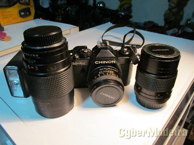 Vendo Máquina fotográfica chinon cm-4s com vários acessóriosOutras