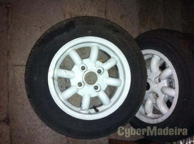 """Jantes miniligth para minis12"""" com pneus"""