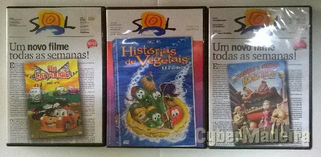 Pack de dvd\'s para crianças