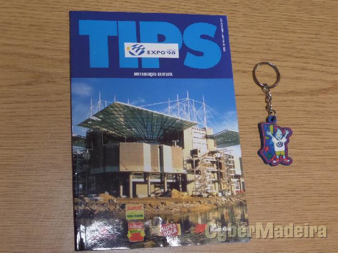 Porta-chaves oficial da EXPO98 + guia EXPO98 tips