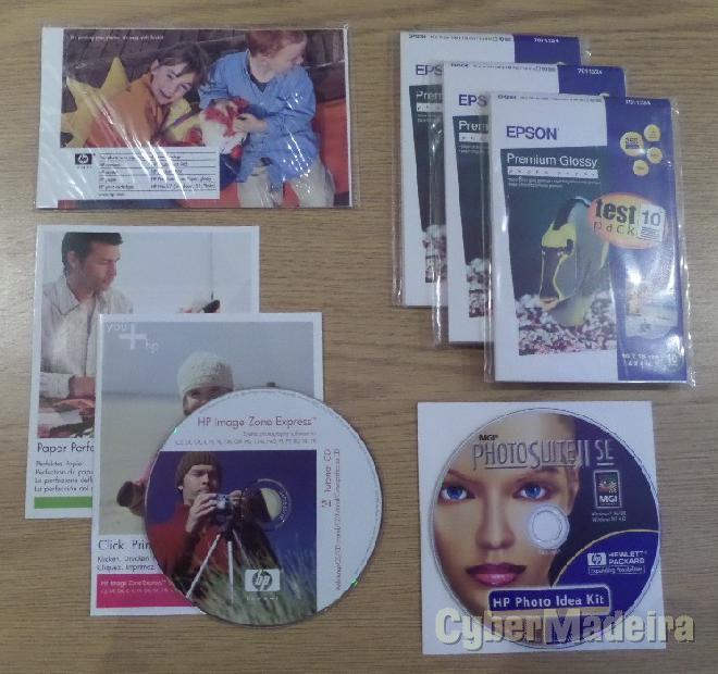 Pack de software E consumíveis para impressão fotográfica
