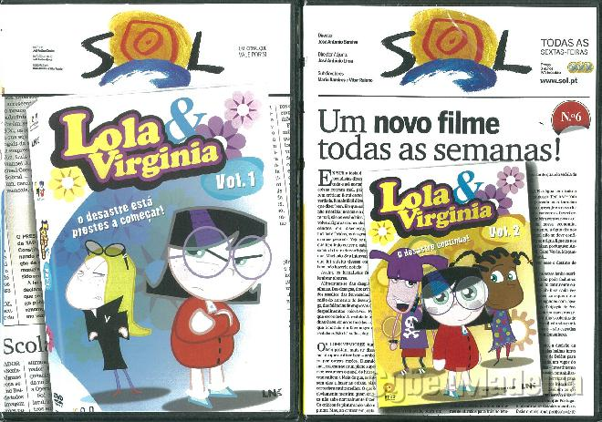 Dvd\'s de animação lola & virginia - volumes 1 E 2
