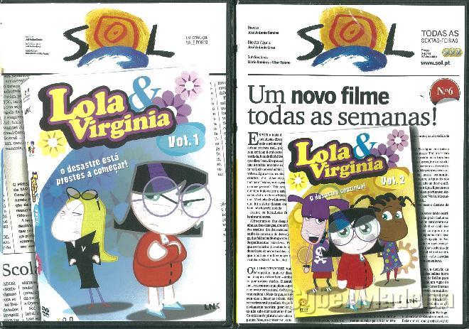 Dvd\'s de animação lola & virginia - volumes 1 E 2