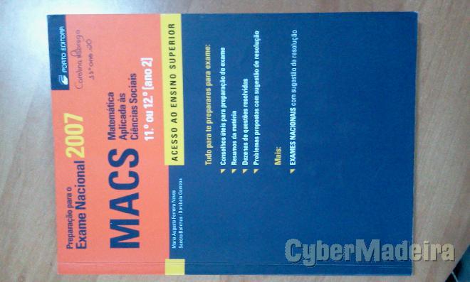 Preparação para O exame nacional macs 11º Matemática