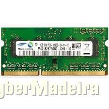 Memória sodimm samsung 1GB DDR3 1333MHZ