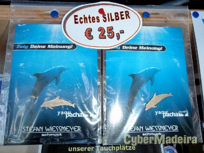 Pins golfinho de prata
