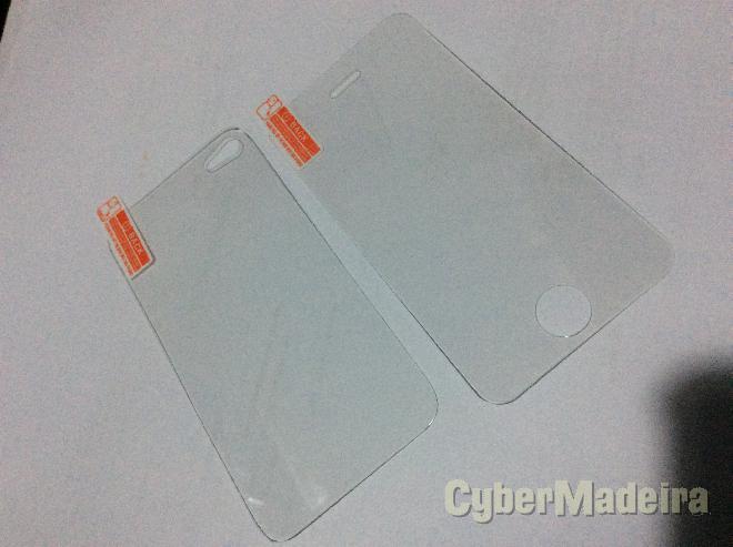 Película de proteção vidro temperado frente E traseira iphone 4  ou 4S