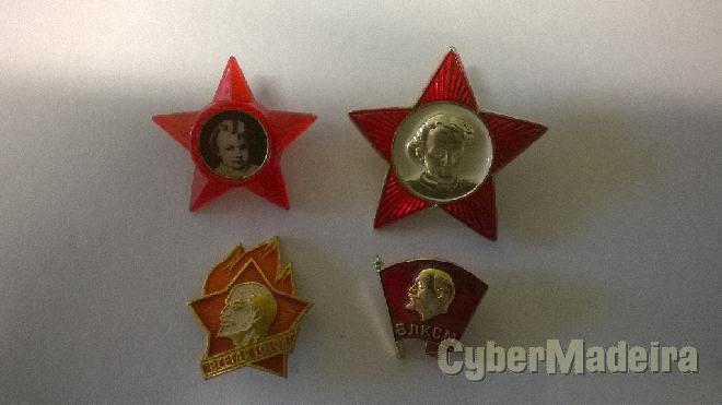 Conjunto de crachats soviéticos - infância E juventude