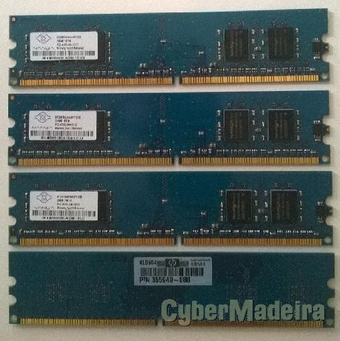 Memórias ram de 256MB para desktop