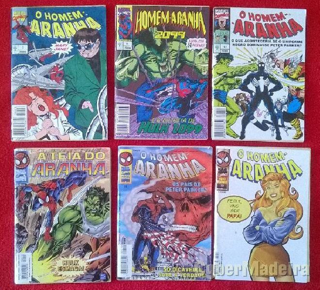 Revistas de bd do homem-aranha