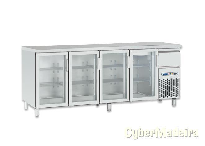 Fagor bancada refrigerada de 3 m portas de vidro