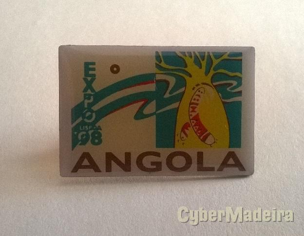 Pin do pavilhão de angola na EXPO98