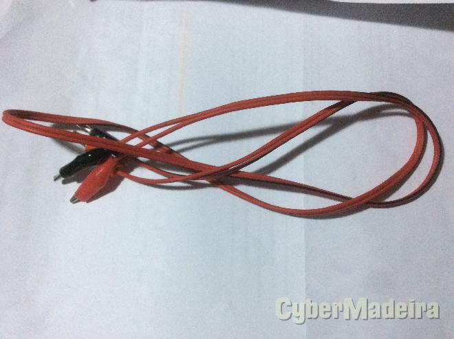 Cabo alimentação com fio vermelho E preto com garras