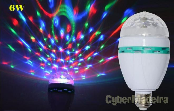Lampada discoteca colorida rotativa