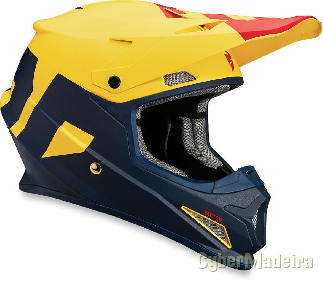 Thor Capacete Thor SECTOR LEVEL MATTE NavyYellow