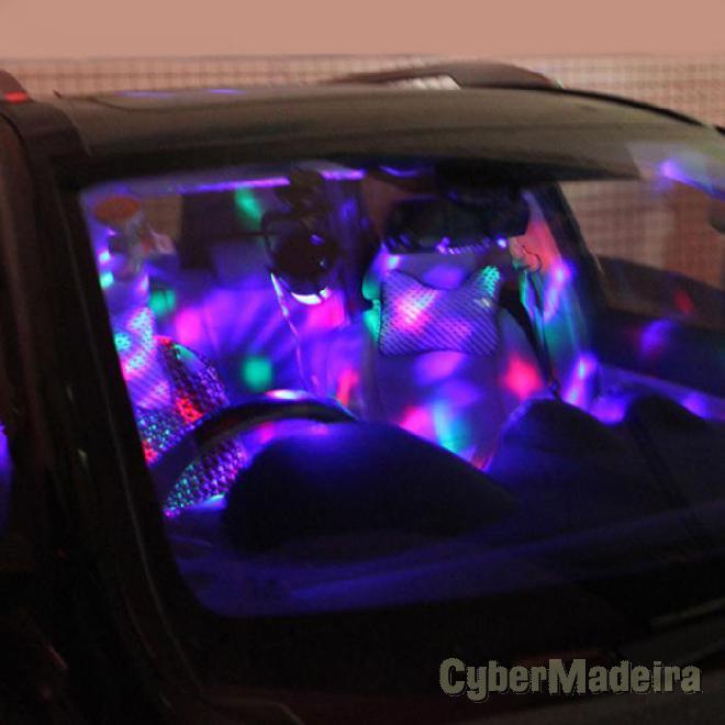 Lampada discoteca rotativa p carro