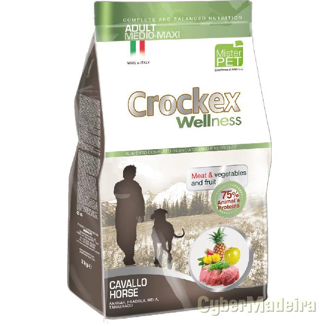 Crockex wellness dog adult medium maxi horse 12KG