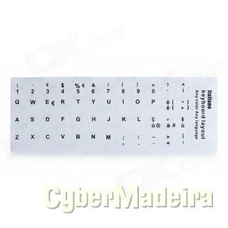 Autocolante teclado layout portugues branco