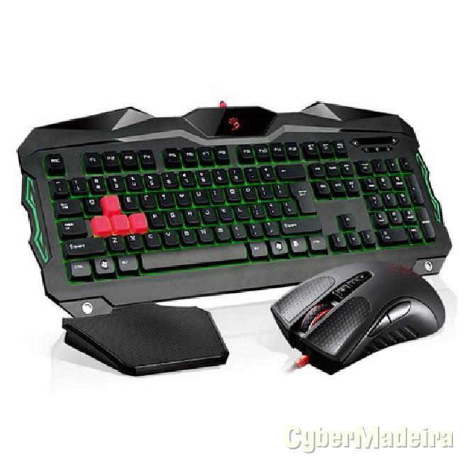 Conjunto gaming bloody ? teclado B2100 + rato V9C usb