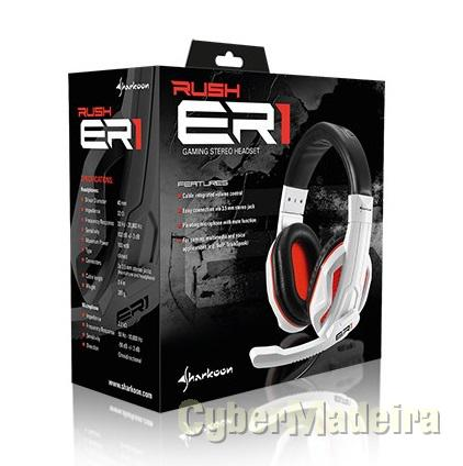 Sharkoon rush ER1 ? gaming stereo headset branco laranja
