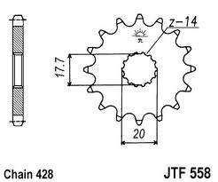 Pinhão JT Yamaha DTR 125 Novos
