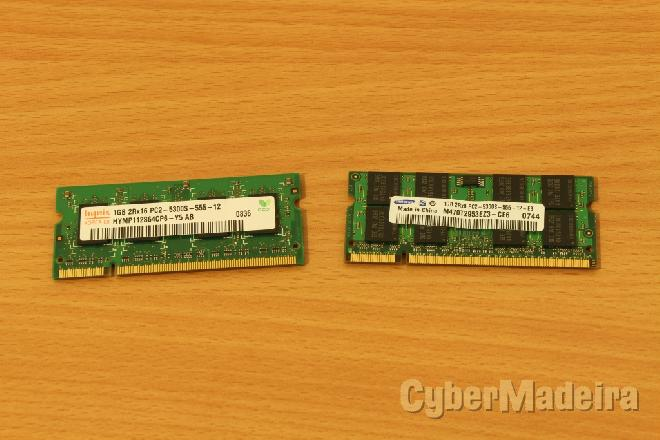Memória ram DDR2 1GB portátil