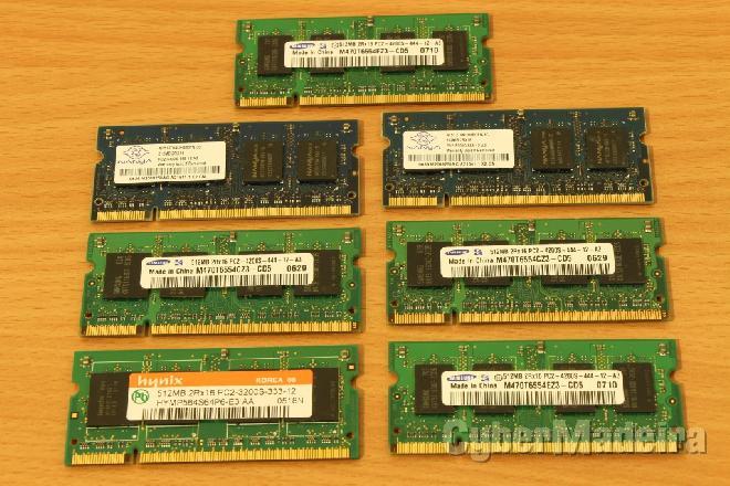 Memória ram DDR2 512MB portáti