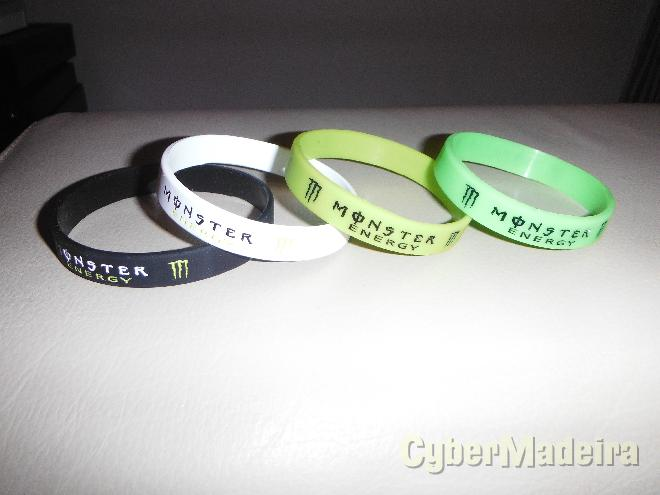Pulseira monster energy