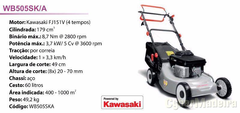 Corta relvas A gasolina - motor kawasaki