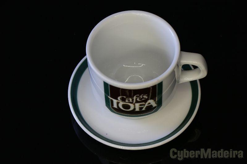 Chávena de Café clássica Tofa com prato / pires
