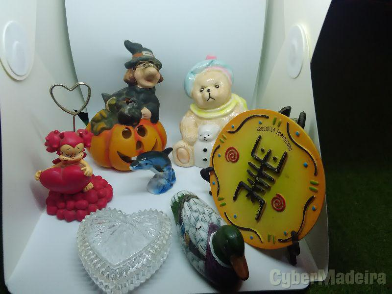 Varios artigos de decoração