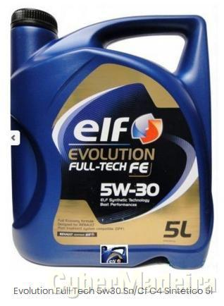 RENAULT MEGANE Óleo ELF Evolution Full Tech FE 5w30 Sn/Cf C4 Sintetico 5L Gasóleo