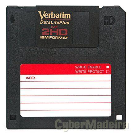 Transferência de ficheiros de disquetes