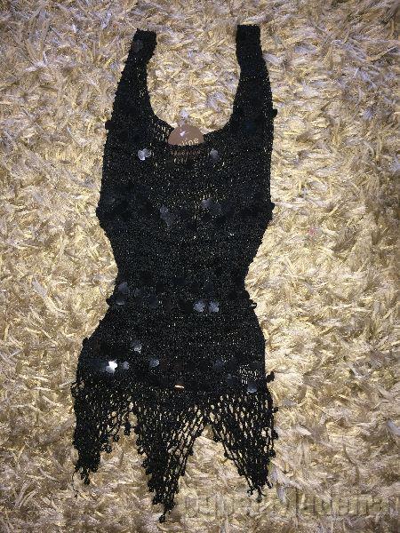 Blusa preta de festa