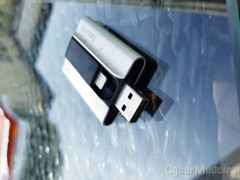 Sandisk iphone ipad para usb