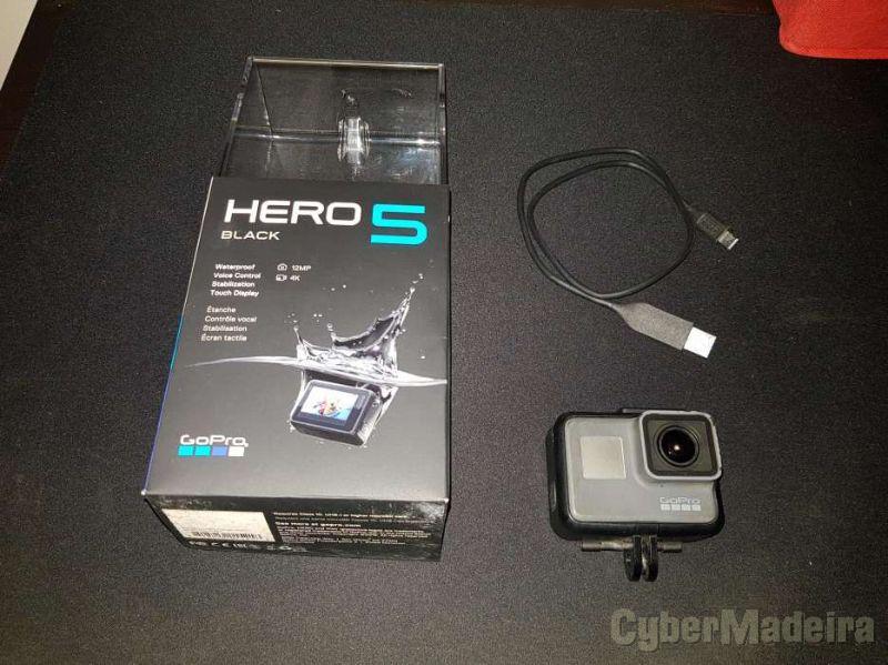 Camera Gopro 5 Black Edition à prova de agua.