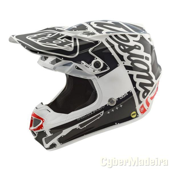 Scorpion Capacete Troy Lee Designs Moto Branco NovoM