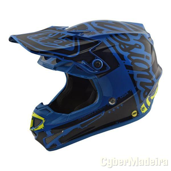 Scorpion Capacete Troy Lee Designs Moto Azul NovoM