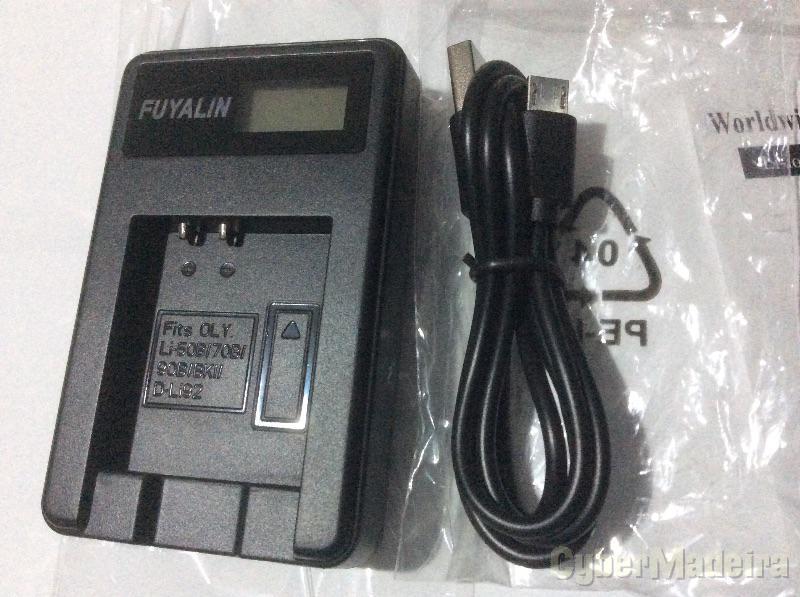 Carregador bateria Pentax Li90 , Li50B , Li70B , Li90B , BKI , D-Li92