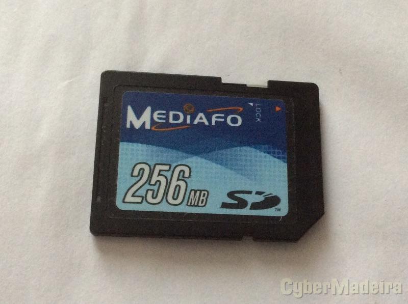 Cartão de memória SD Mediafo 256MB