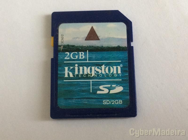 Cartão de memória SD Kingston 2GB