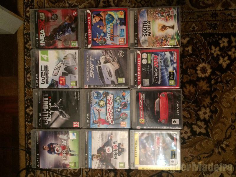 PS3 120G  com 13 jogos