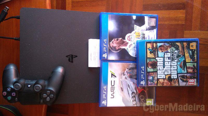 Playstation 4 com garantia E 3 jogos recentes