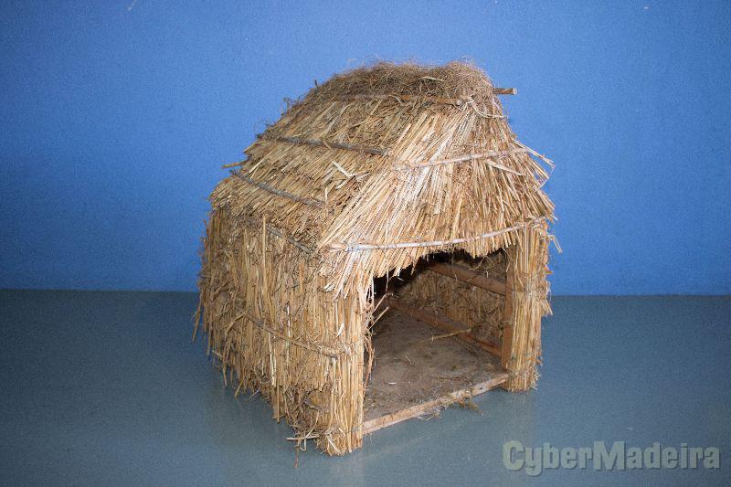 Palhosca palheiro cabana de presépio