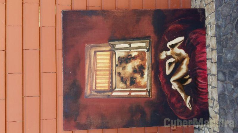 Pintura a óleo sobre tela sem título 65 cm X 55 cm