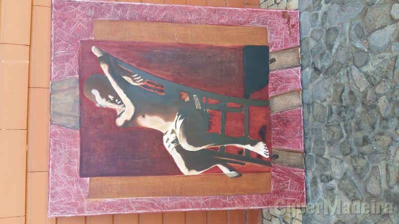 Pintura técnica mista (óleo e acrílico) sobre tela sem título 65 cm X 55 cm