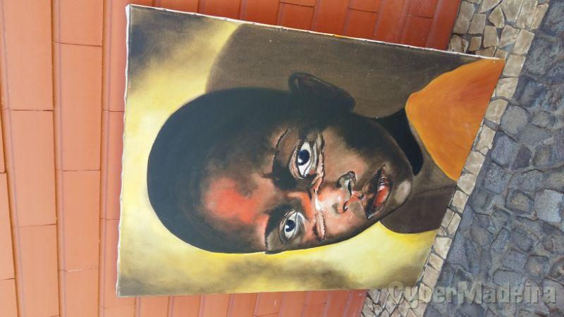 Pintura a óleo sobre tela sem título 80 cm X 60 cm