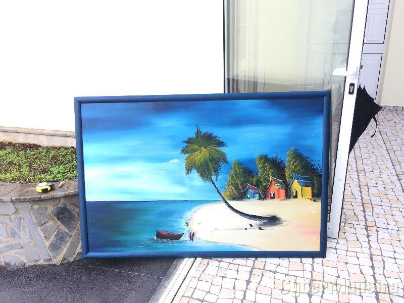 Quadro grande pintado à mão, 150cm x 110cm