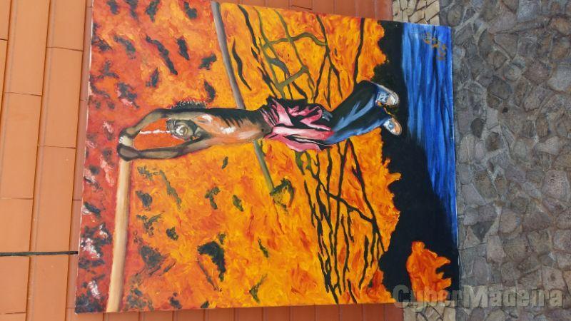 Pintura a óleo sobre tela sem título 110 cm X 80 cm